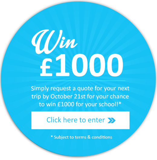 Click here to see how you could win £1000 for your school (subject to terms and conditions)